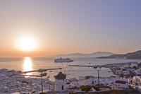 ギリシャ ミコノス島 夕景