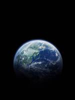 地球 日本 黒背景