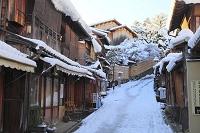 京都府 雪景色の二年坂