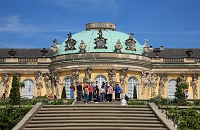 ドイツ ポツダムの公園と宮殿 サンスイシ宮殿