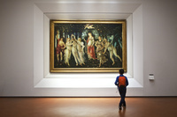 イタリア ウフィツィ美術館 内観