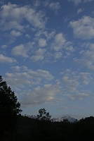 長野県 鹿島槍と爺ヶ岳と朝の雲