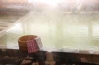 長野県 五色温泉 湯煙の内湯