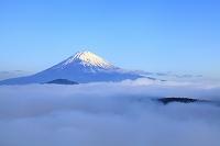 神奈川県 箱根大観山 早朝の富士山と雲海
