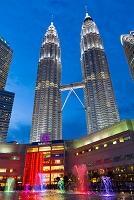 マレーシア クアラルンプール ツインタワー夕景