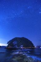 大分県 網代島と星空
