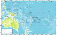 オセアニア 地勢図