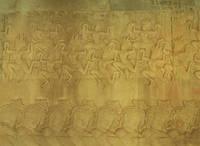 カンボジア アプサラの踊る壁面