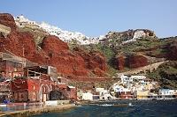 ギリシャ サントリーニ島イアの港