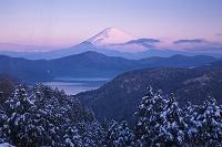 神奈川県 大観山より芦ノ湖と富士山