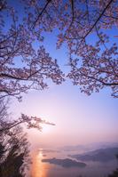 広島県 桜と瀬戸内海