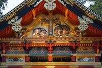 栃木県 東照宮 上神庫の彫刻 ライトアップ