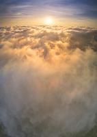 長野県 上田市 美ヶ原高原から望む雲海と朝日