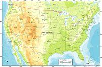 アメリカ合衆国 地勢図