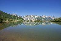 長野県 八方池と白馬三山・唐松岳、不帰ノ劍