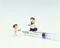 クラフト 医者と看護師と注射器