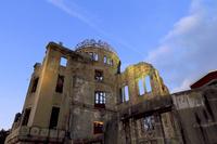広島県 原爆ドームの夕景