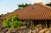 シーサーのある竹富島の民家