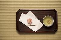 桜湯と和菓子