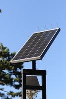 街路灯のソーラーシステム