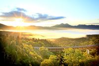 北海道 三国峠の雲海と東大雪連山