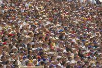 観客席の群衆