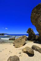 東京都 小笠原諸島 母島 南崎のワイビーチと青い海