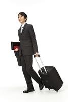 海外出張イメージのビジネスマン