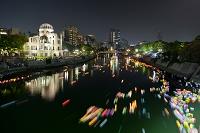 広島県 原爆ドームと灯籠流し