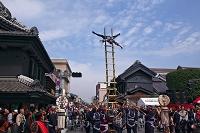 埼玉県 小江戸川越春まつり 鳶のはしご乗り