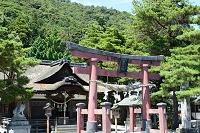 滋賀県 白髭神社鳥居から本殿