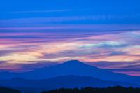 岩手県 鳥海山の夕日