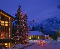 冬のパークホテルの夕暮れ