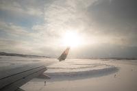 秋田県 雪の秋田空港