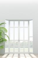 窓から光が差し込む部屋 CG