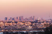 東京都 新宿高層ビルの夕景