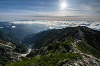 唐松岳山頂から見る雲海