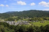 奈良県 甘樫丘から見た飛鳥寺周辺