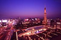 愛知県 オアシス21とテレビ塔の夜景
