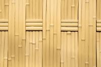 模造竹のフェンス