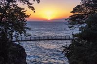 静岡県 城ヶ崎海岸の門脇吊橋