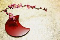 梅と銘々皿