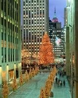 ニューヨーク ロックフェラーセンター前のクリスマスツリー