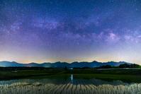 長野県 天の川と八ヶ岳