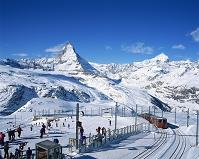スイス ゴルナグラード駅よりマッターホルンを望む