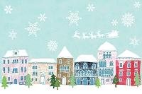 雪に包まれた町 イラスト