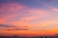 東京都 練馬区 夕焼け雲と富士