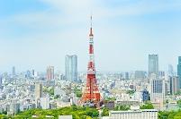 日本 東京都 東京タワーと街並み