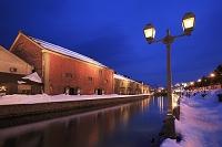 北海道 小樽運河の夕景