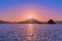 福井県 青葉山の夕日